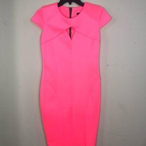 River island bright pink midi dress.